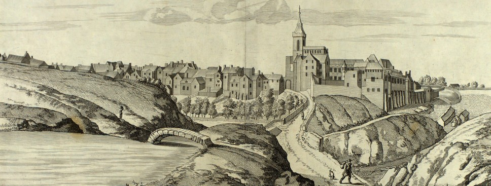 Dunfermline from the west, by John Slezer, from Theatrum Scotiae