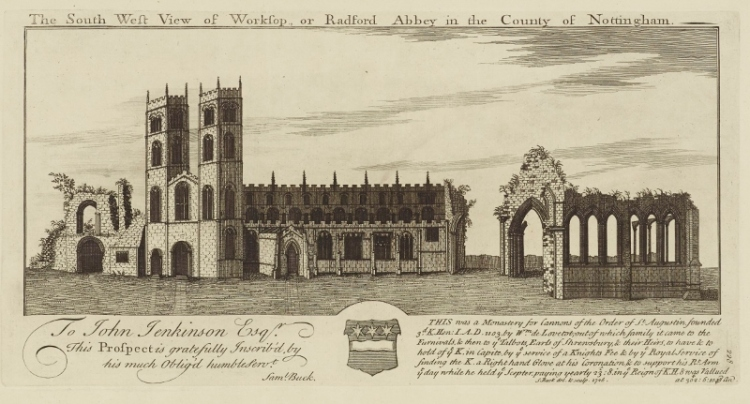 The unrestored Worksop Priory