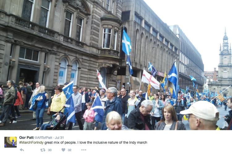 Tweet St George flags